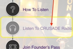 Step 1 Open The CRUSADE Channel Radio App