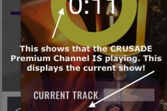 Step 5 - Enjoy listening to the CRUSADE Premium Channel!
