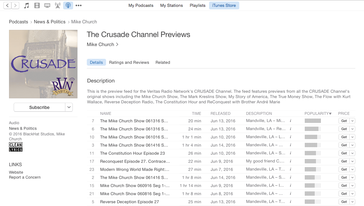 Listening To CRUSADE Via iTunes Is Easier Than Ever With iTunes 12!