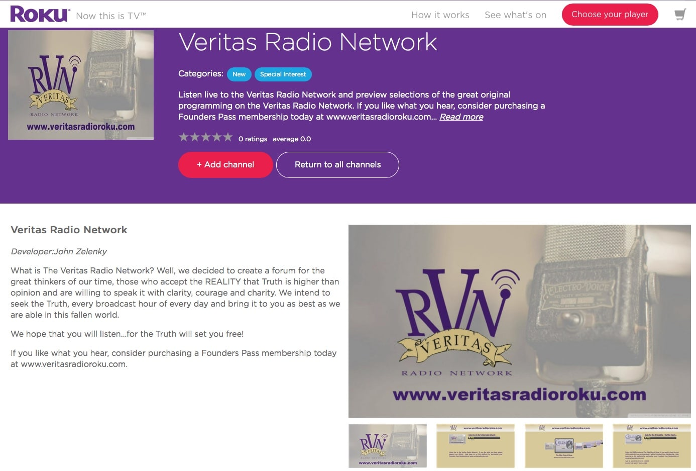 The Veritas Radio Network Is Now On The Roku!