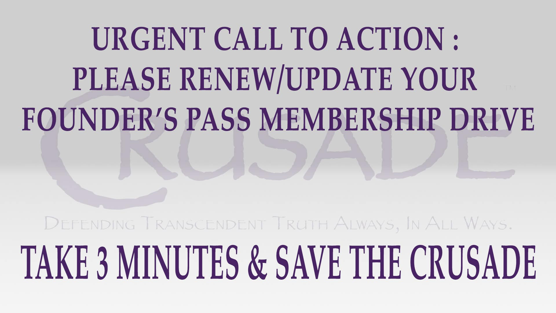 Renew Update Your Founder's Pass Membership Today