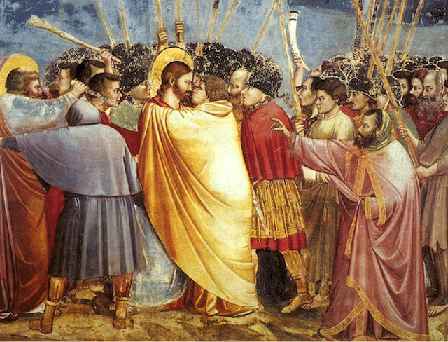 """The Kiss of Judas"" by Giottto"
