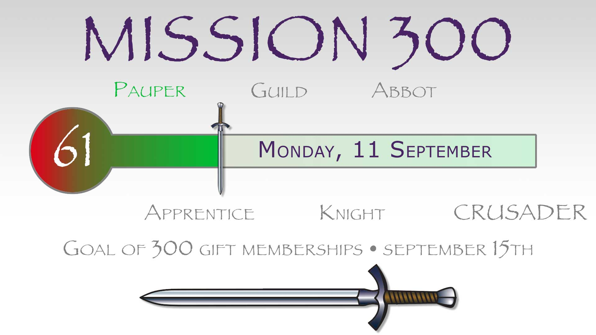 Asking You To Join The CRUSADE Channel's Mission 300