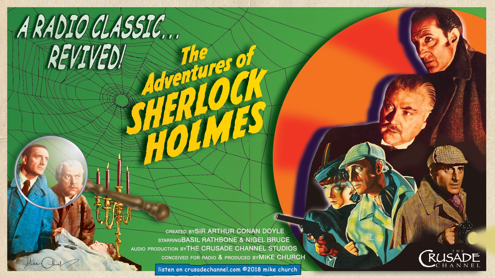 A CRUSADE Original: Mandell Kramer Presents, Monday Mystery Theater & The New Adventures of Sherlock Holmes!