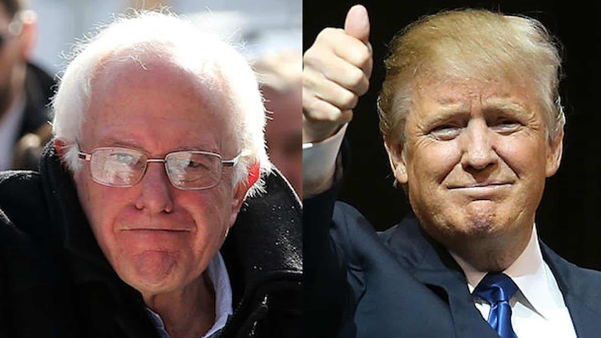 Monday- Trump, Sir Orange The Good To Meet Sanders, Sir Red The Bad?